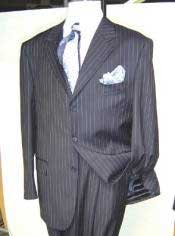 GTS340 Dress Pinstripe 3 Buttons Style Business Soft &