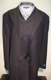 Mens 3 Buttons Black Ton