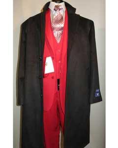KA5221 3 Button Style Long Wool Fabric Blend Liquid