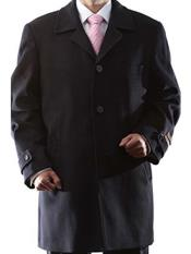 Mens Overcoat Mens 3 Buttons