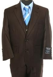 Boys two button Brown suit