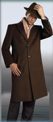 Sentry Chocolate brown color shade Topcoat ~ overcoats outerwear