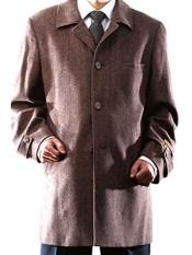 Mens Brown 3 Buttons