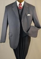 EMIL_T63 3 Buttons Style high Vested 3PC Suits for