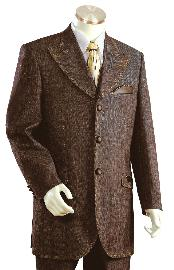 Three-Button-Brown-Wool-Suit