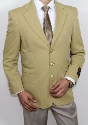 GU4008 3 Button Style Superior Fabric 120s Gold Blazer