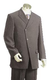 JR7612 Luxurious 3 Button Style Grey Long length Zoot