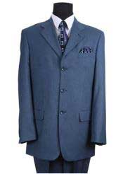 Product#JSM-1559MensTealSuit3ButtonsIndigo~Cobalt