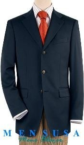 YMC121 Dark Navy Blue Shade 3 Button Style Front