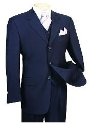 HV666 3 Piece 3 Button Style three piece suit