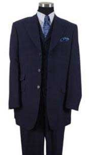 AP40K Peak Lapel Vested 3 Piece Ticket Pocket Vested