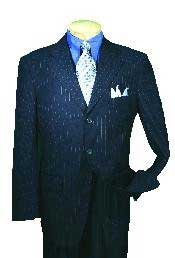 NV76389 Single Breasted 3 Button Style Navy affordable suit