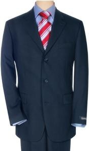 Navy Superior Fabric 120 Wool
