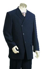 GY7612 High Fashion 3 Button Style Navy 100% Wool
