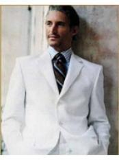 VR7823 Suit in 3 Button Style Blend Suit White