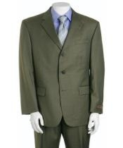 ZLk9 Forest Olive Green 3 Button Styles 3 Button