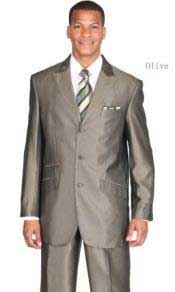PN1349 Fully lined three button front peak lapel suit