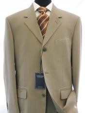 IGS158 3 Button Style Dark Conservative Business Tan khaki