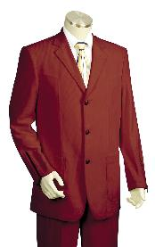 KH4500 3 Button Style High Fashion Wine Long length