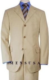 SP4 Solid Tan khaki Color ~ Beige~Beige Quality Suit
