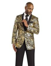 CH1936 Mens Gold Tiger ~ Unique Shiny Fashion Prom