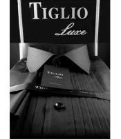 SD3301 Tiglio Luxe Mens Cotton Pleated Classic Fit Tuxedo