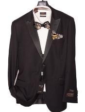 JSM-1579 Mens Tiglio Lux Modern Fit Black Tuxedo