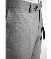SD281 Mens Tiglio Luxe Grey Wool Italian Checked Flat