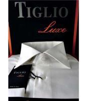 SD333 White Tiglio Italian Mens Cotton Standard Cuff Classic