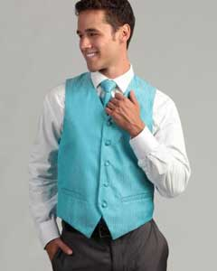 PN_G47 turquoise ~ Light Blue Stage Party 4-Piece Vest