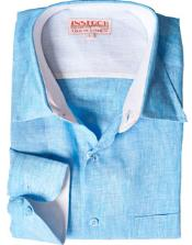 RM1829 Turquoise Dress Shirt Online Sale