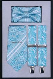 TW44 Suspender Tie Bow Tie ~ Bowtie and Hanky