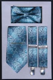 RG85 Suspender Tie Bow Tie ~ Bowtie and Hanky