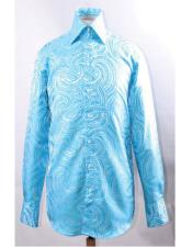 JSM-5835 Mens High Collar Fashion ~ Shiny ~ Silky