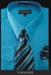 TU7901 Dress Shirt - PREMIUM TIE - turquoise ~