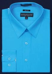 KA5677 Slim narrow Style Fit Dress Shirt - turquoise