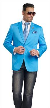 Mens 2 Button Aqua