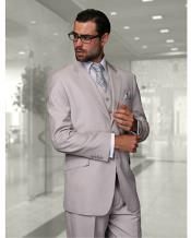 JSM-1329 Mens Statement 2 Button Ash Grey Modern Fit