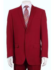 JSM-6138 Mens Vitali Single Breasted Authentic 2 Button Red