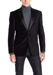 SM5190 Cheap Black Big And Tall Blazers Clearance Velvet
