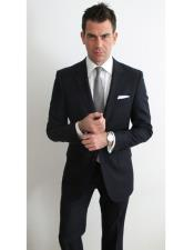 CH1757 Mens black suit white shirt grey tie package