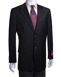 YT441 2-button Liquid Jet Black Wool Fabric Jacket/Blazer Online