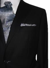 SM4858 Mens 2 Button EURO SLIM Notch Lapel Solid