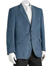 JSM-1468 Mens 2 Button Microsuede Notch Lapel Polyester Double