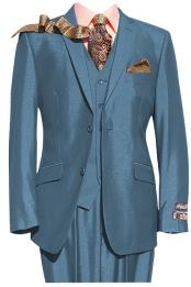 Mens 2 Button Blue Notch