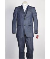 JSM-440 Mens Blue 2 Button Two Piece Suit