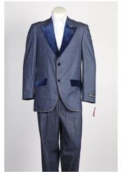 Two-Button-Blue-Velvet-Suit