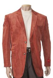 SM4467 Mens 2 Button Single Breasted Brick Sueded Notch