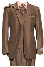 Mens 2 Button Brown 3