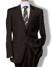 KL9977 Two Button brown color shade Pinstripe Suit
